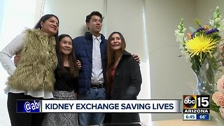 Families meet after kidney donations saves two lives