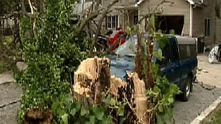 From The Vault: Hurricane Ike in Cincinnati: Cars wrecked in driveway - Video