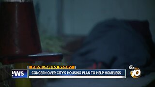 Concern over city's housing plan to help homeless