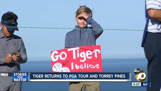 Tiger Woods returns to Torrey Pines - Video
