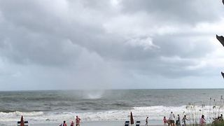 South Carolina Waterspout Turns Into Small Tornado as it Makes Landfall - Video