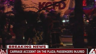 Three injured in horse carriage crash on Plaza