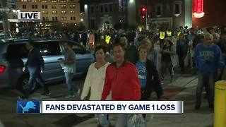 Detroit Lions fans devastated by home opener loss