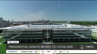 Presidential debate moved to Cleveland