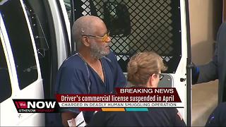 Driver's commercial license was suspended in human smuggling case - Video