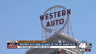 Western Auto sign to light up sky again in KC - Video