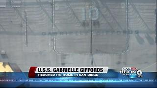 USS Gabrielle Giffords arrives in San Diego homeport - Video