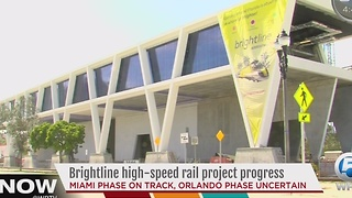 Brightline high-speed rail project progress - Video