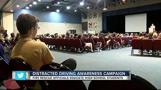 Man loses sight in drunk driving crash, warns teens about distracted driving - Video