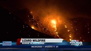 Lizard Fire containment at 5 percent - Video