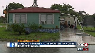 Strong storms cause damage in North Fort Myers - Video