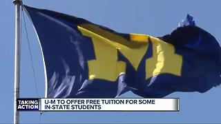 University of Michigan to offer free tuition for some in-state students - Video
