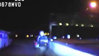 TPD Dash Cam Shows Woman Pinned Following Truck Crashing Into Patrol Car - Video