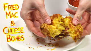 Fried mac & cheese balls recipe - Video