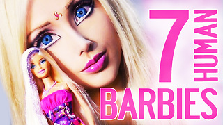 7 Most Shocking Human Barbie Transformations  - Video
