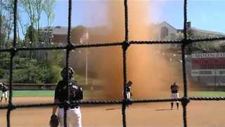 Massive 'Dust Devil' Interrupts Lynchburg Softball Game - Video