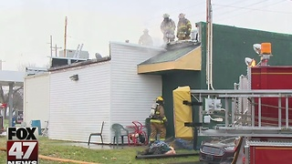 Fire damages sandwich shop in Lansing Township - Video