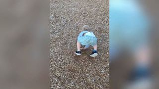 Dizzy Tot Loses Fight With Gravity - Video