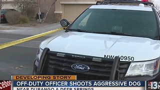 Off-duty police officer shoots attacking dog