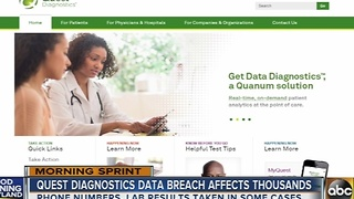 Quest Diagnostics data breach affects 34,000 customers - Video