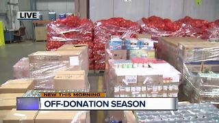 Off-donation season at Gleaners Community Food Bank - Video