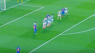 Neymar Amazing Free Kick Goal vs Celtic - Video