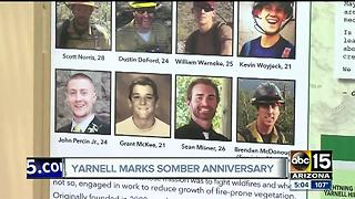 Yarnell marks somber anniversary of deadly fire - Video