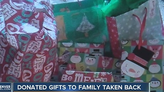 Organization takes back gifts they gave to grandmother and granddaughter - Video