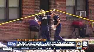 10-year-old boy thought to be shot was unharmed
