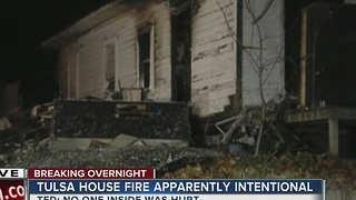 Tulsa Fire Department investigating overnight house fire - Video