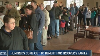 Hundreds come out to benefit for Trooper's family - Video