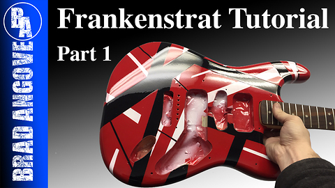 How to do a frankenstrat paint job with spray cans (part 1)