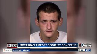 Man arrested for allegedly crashing car at McCarran fence - Video