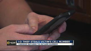 Identity thief steals victim's Social Security number, uses it to take his cell phone number - Video