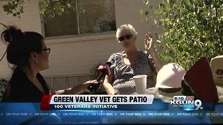 Green Valley veteran gets patio renovated - Video