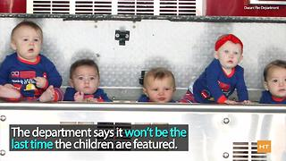 This fire station's holiday photos will melt your heart - Video