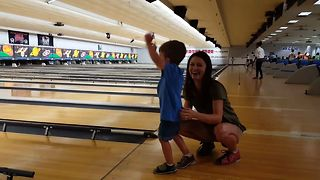 Cute Tot Loves Bowling - Video