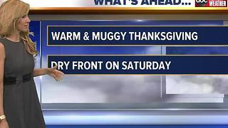 Debra's Thanksgiving Morning Forecast - Video