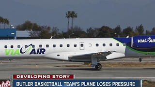 Butler basketball team's plane loses pressure mid-flight - Video