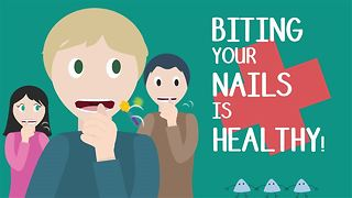 How biting your nails is making you healthier! - Video