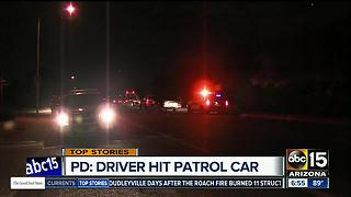 Suspect fled DPS, hit police car and later arrested - Video