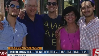 Concert Benefits Brothers Injured In Wildfire - Video