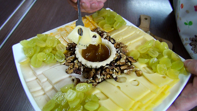 & Best Cheese Plate! Best Food Combination!
