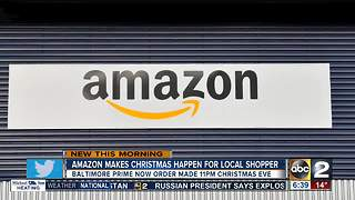 Amazon saves Baltimore shopper's Christmas - Video