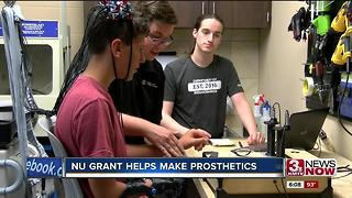 NU grant helps research 3-D printer prostheses 6p.m. - Video