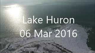 Drone Captures Stunning View of Lake Huron - Video