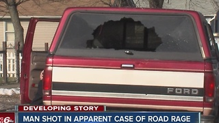Man shot in shoulder during apparent road rage incident in Indianapolis - Video