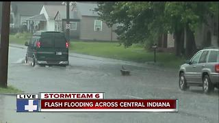 Flash flooding across Central Indiana Friday - Video
