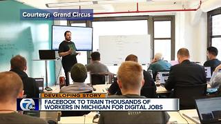 Facebook to train thousands of workers in Michigan for tech jobs - Video