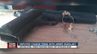 Deputies charge teens with armed burglary after bragging about it online - Video